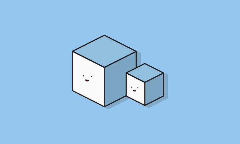 Illustratie van lachende vakken pictogrammen