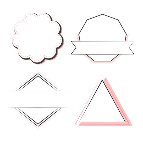 Conjunto de vector de insignias y emblemas