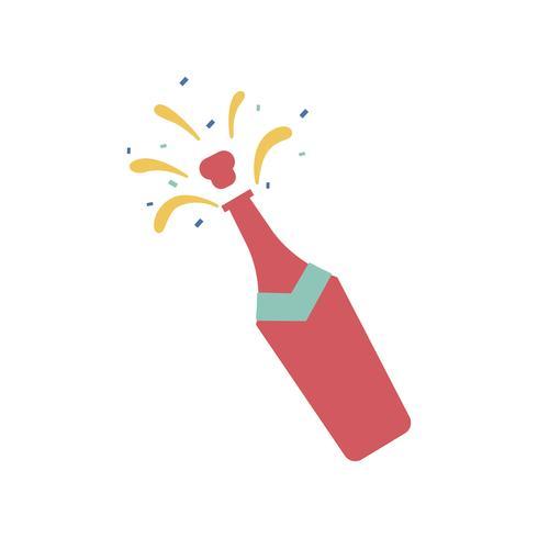 Illustratie van champagne fles pictogram