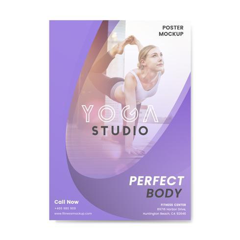 Yoga studio reklamaffär vektor