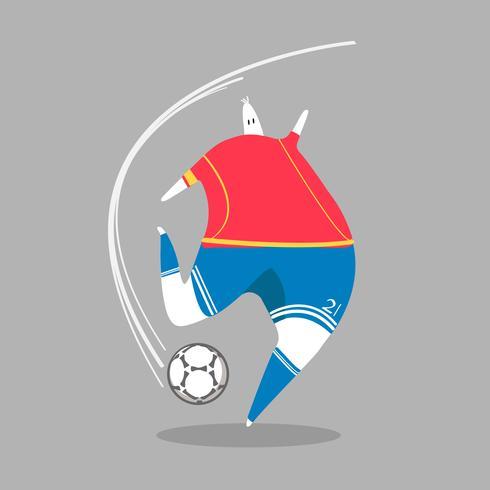 Karaktär illustration av en fotbollsspelare