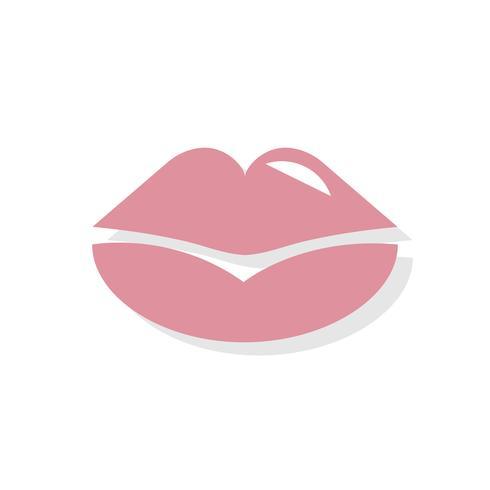 Lippen küssen Valentinstag-Symbol