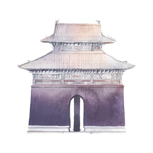 Ming tombs in China vector