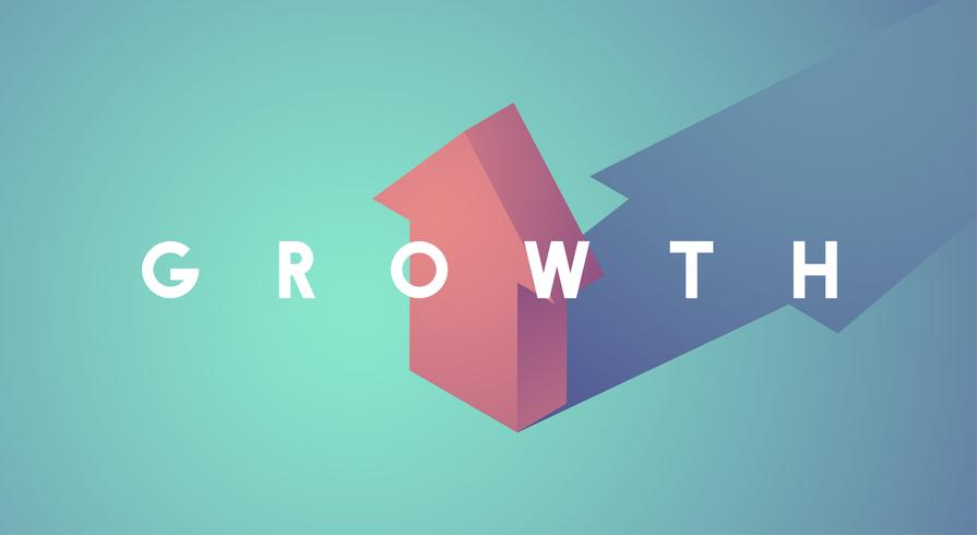 Ilustración del gráfico de crecimiento