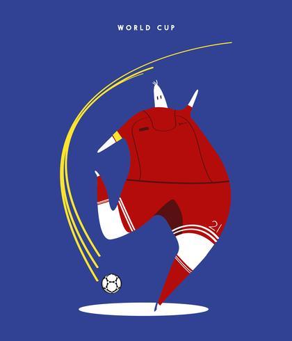 Coupe du monde concept illustration de joueur de football