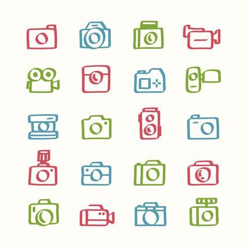 Illustration uppsättning kamera ikoner