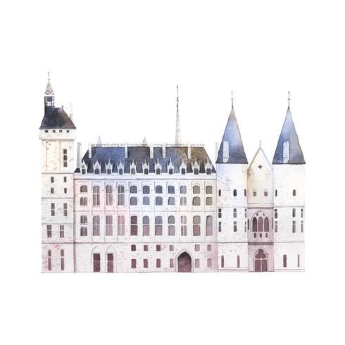 Edifício Conciergerie em Paris vector