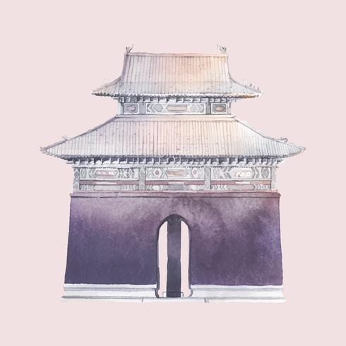 Ming-Gräber in China-Vektor