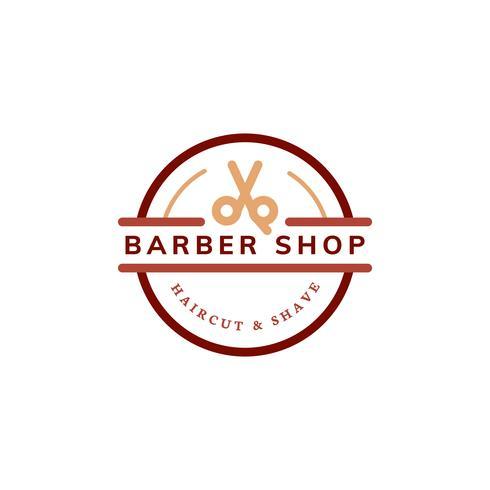 Barbearia logotipo design ilustração
