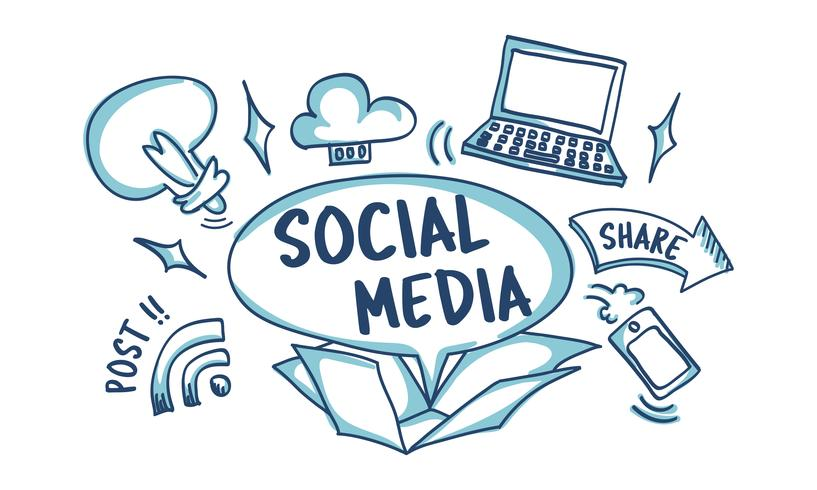 Illustration du concept de média social