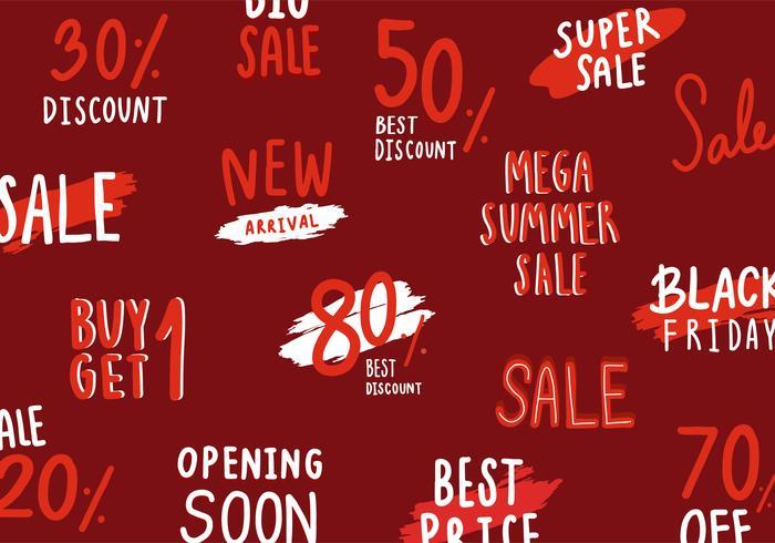 Verzameling van verkoop- en kortingsvectoren