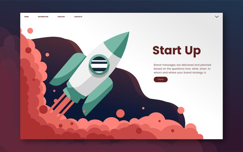 Start up informational website graphic