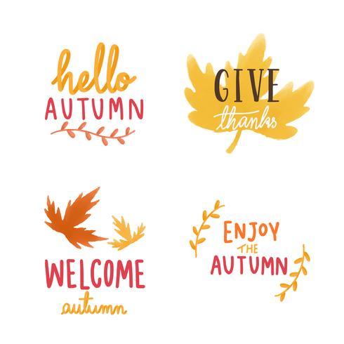Ensemble de feuilles d'automne illustration