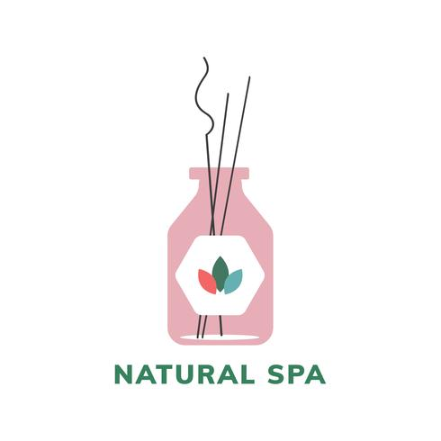 Natural spa product logo icon