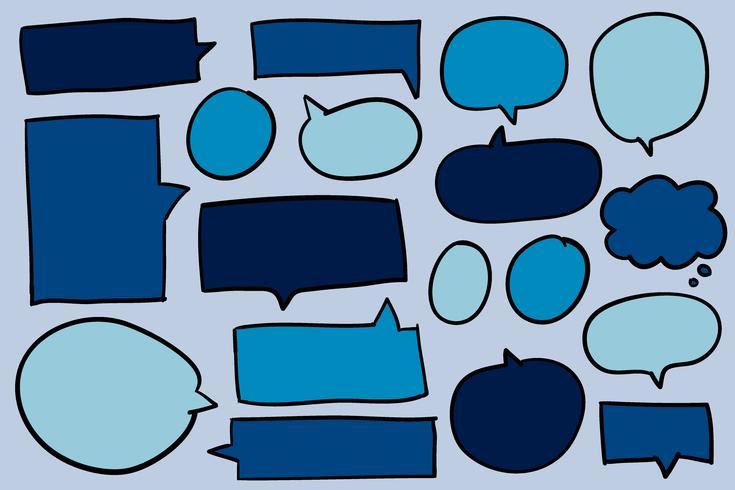 Raccolta di bolle di discorso vettoriale