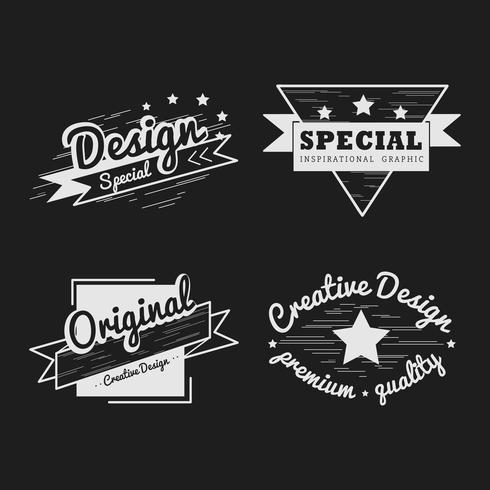 Premium kvalitet badge vektor uppsättning