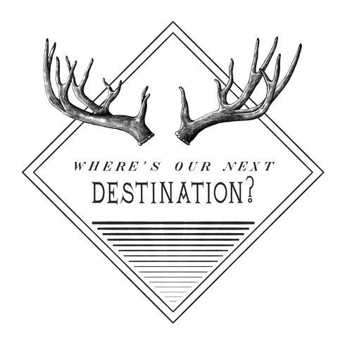 Destination travel logo design vektor