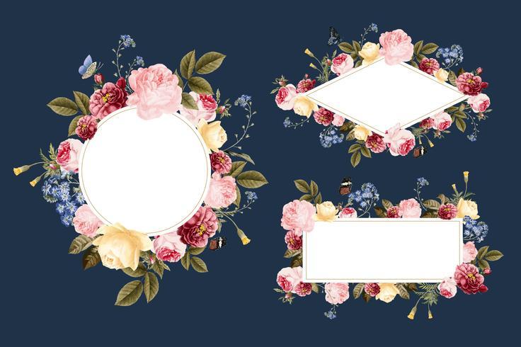 Set di modelli di carte floreali