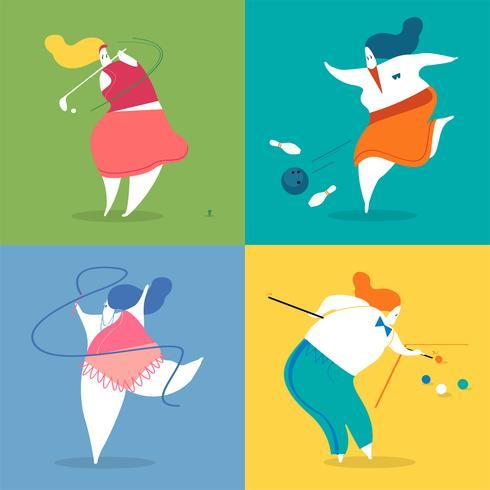 Illustration de personnages de sport