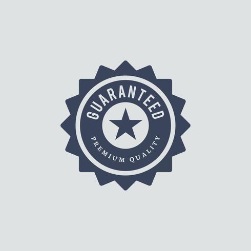 Ilustração do selo de qualidade premium garantida