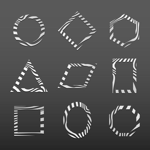 Satz abstrakte Ausweisschablonenvektoren