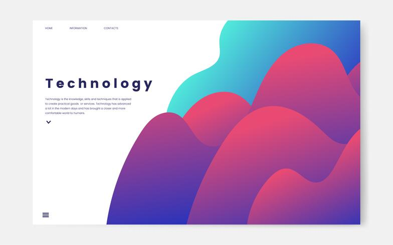 Technology and IT informational website graphic