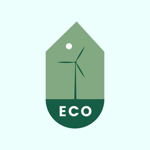 Icono ecológico de energía alternativa
