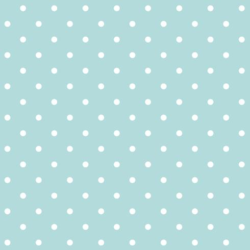 Turquoise and white seamless polka dot pattern vector