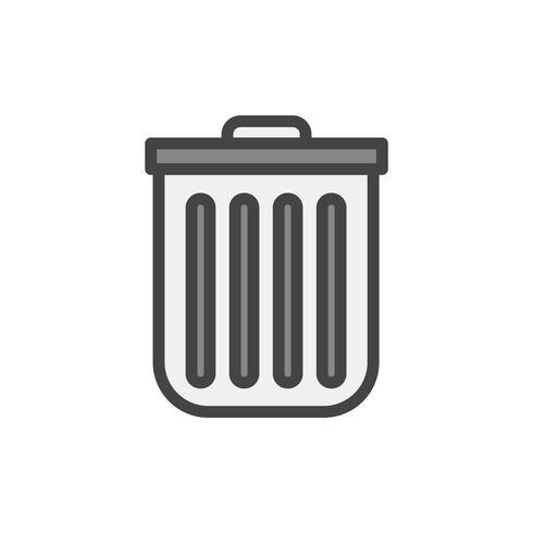 Illustratie van een vuilnisbak