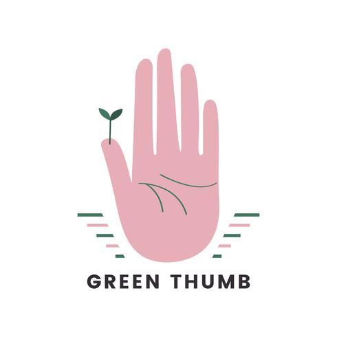 Icona di giardinaggio organico pollice verde