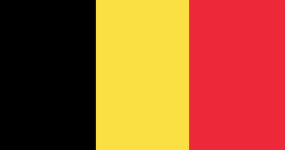 Illustratie van de vlag van België