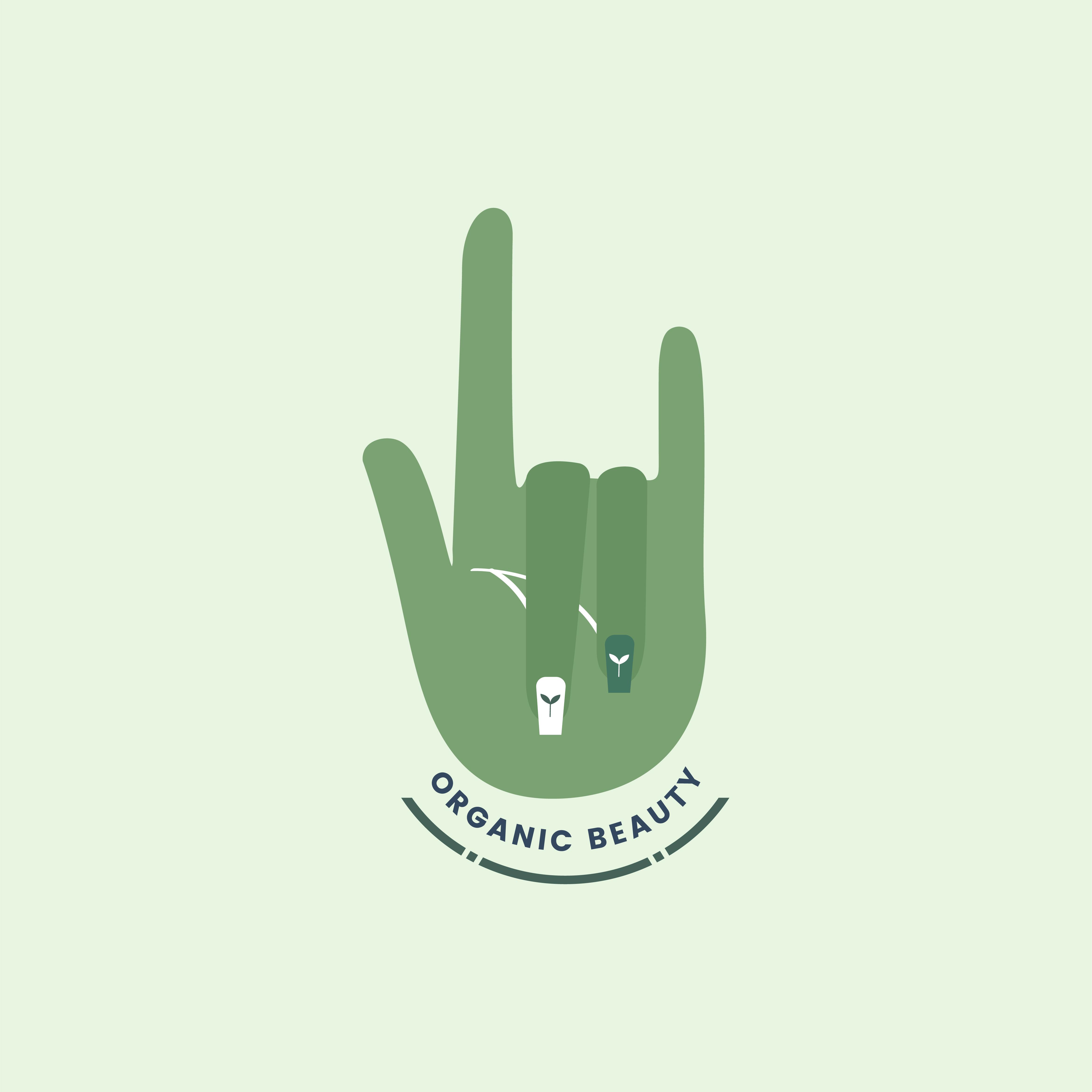 Set Of Labels For Natural Farming: Logo Of Natural Organic Beauty