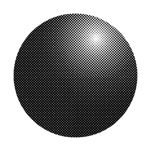 Black halftone badge on white background vector