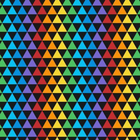 Vecteur transparente motif triangulaire coloré