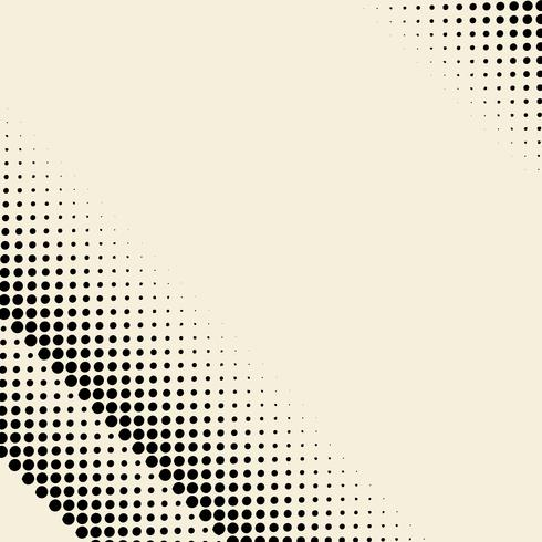Black and beige halftone background vector