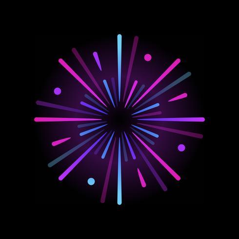 Vibrant firework explosion element vector