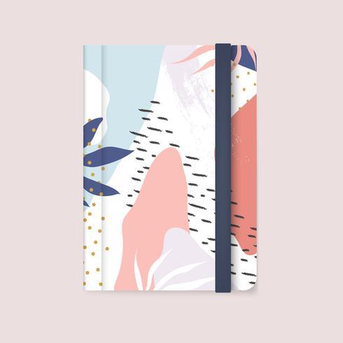 Vecteur de couverture de cahier coloré design Memphis