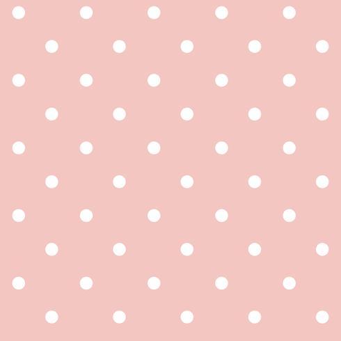 Vettore senza cuciture rosa e bianco pastello del modello di pois