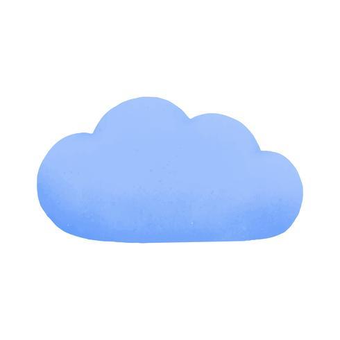 Cloud social media icon vector