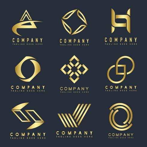 Set av företagslogotyp design idéer vektor