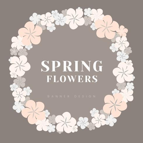 Japanse pastel bloemen frame