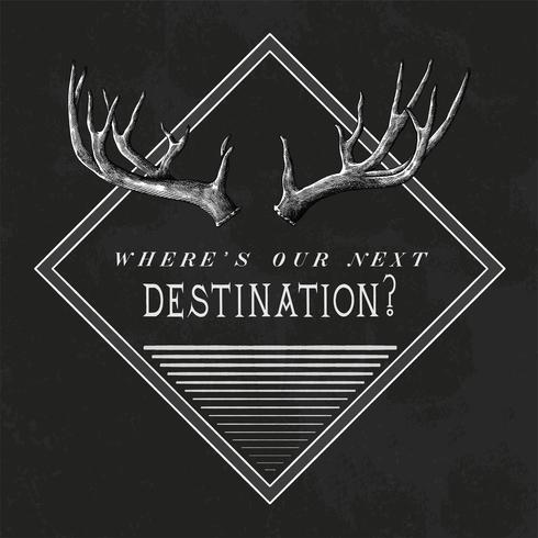 Bestemming reizen logo ontwerp vector