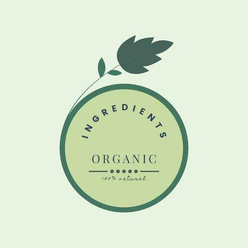 Natural and organic products icon
