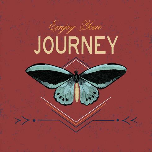 Goditi il tuo viaggio logo design vettoriale
