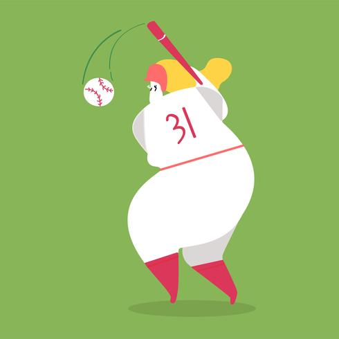 Character illustration of a baseball player