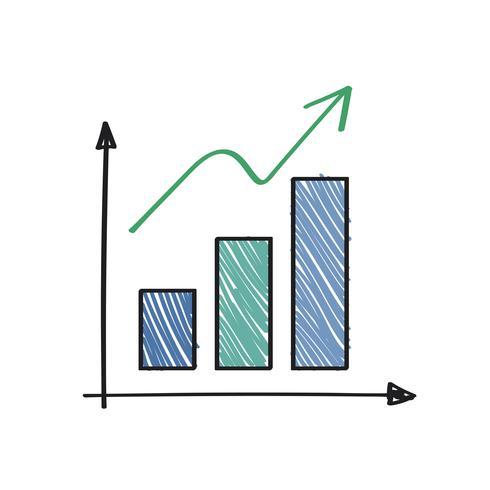 Positiv wachsende und Erfolgsdiagrammillustration