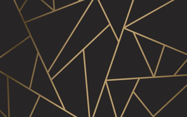 Modern mosaik tapeter i svart och guld