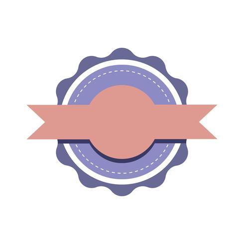 Pastel emblem badge design vector