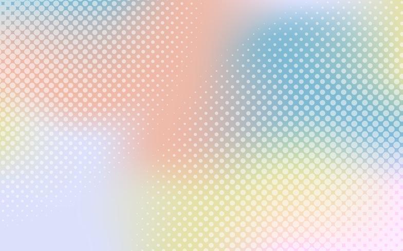 Colorful gradient halftone
