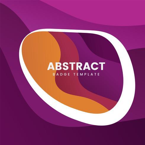 Färgrik abstrakt emblemdesign